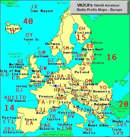 Downloads - Us map of ham radio call sign prefixes